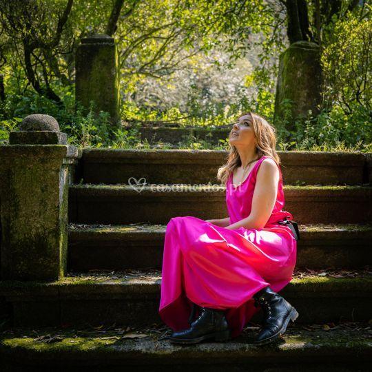 Vestido bloom fuchsia