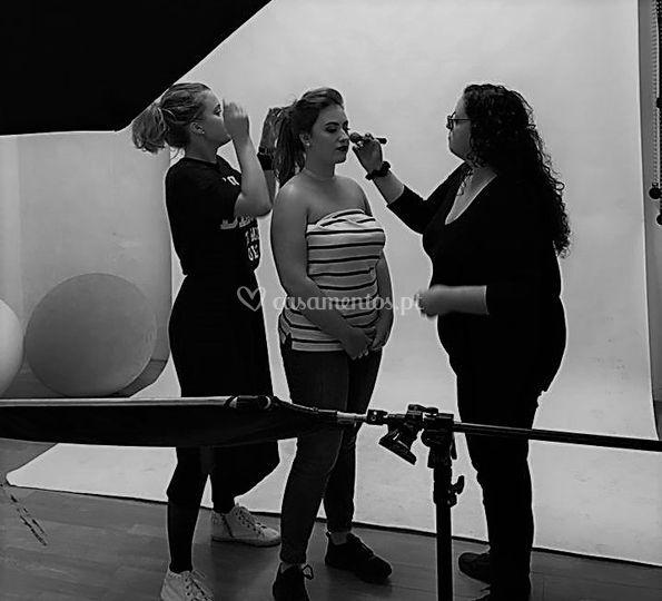Preparação sessão fotográfica