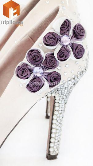 Decoração de sapatos de Noiva