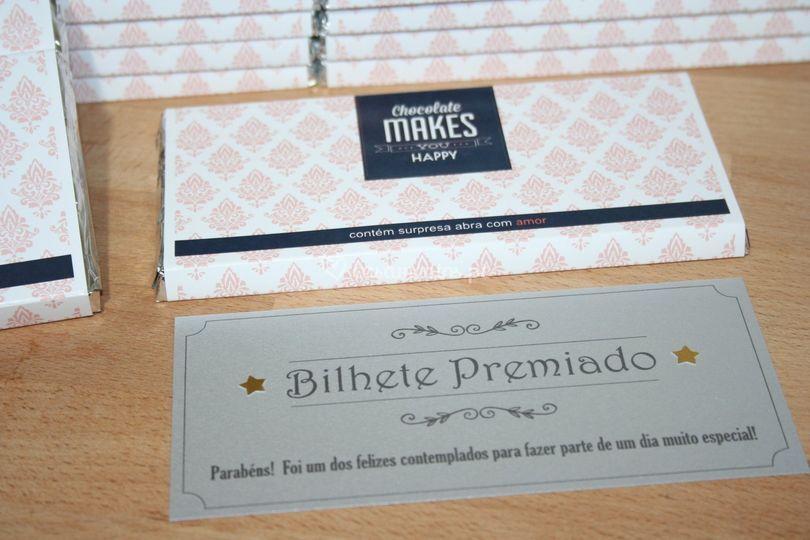 Convite casamento chocolate