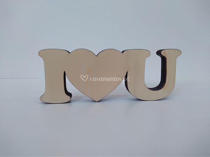 "Letras ""I love you"""