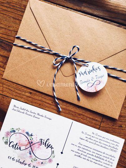 Convite casamento c&f