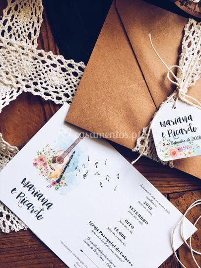 Convite casamento m&r
