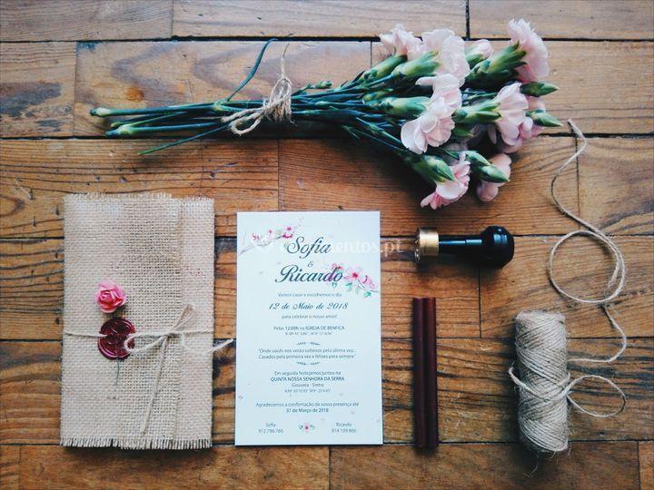 Convite casamento s&r