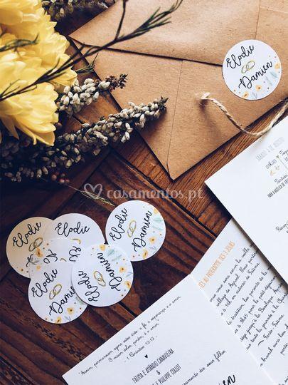 Convite casamento e&d