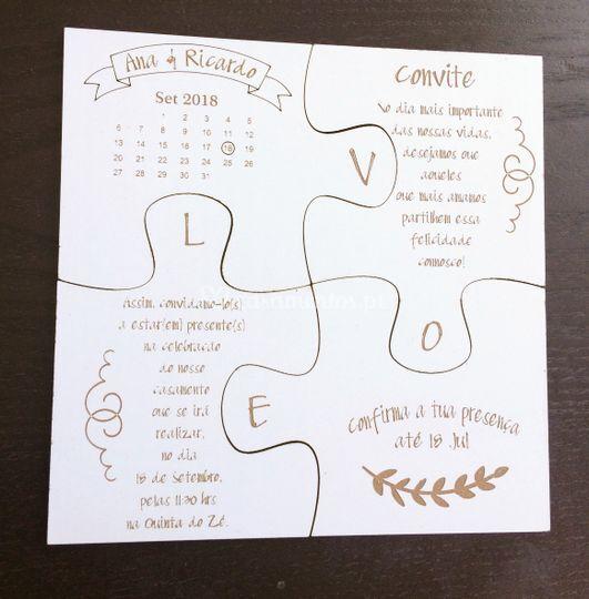 Puzzle Convite
