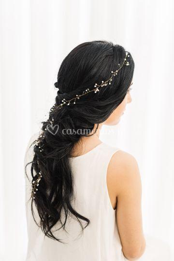 Iris hair vein- handmade