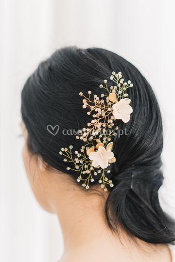 Audrey flower pins -handmade