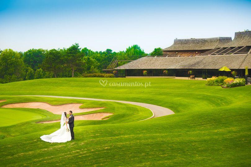 Casamento em campo de golf