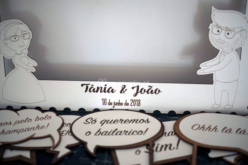 Photo Booth: Placas e Moldura