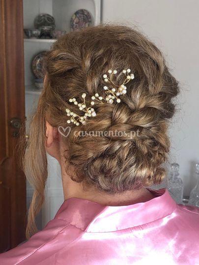 Penteado mãe noiva