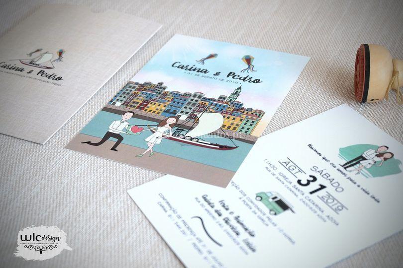 Convite . Ilustrações