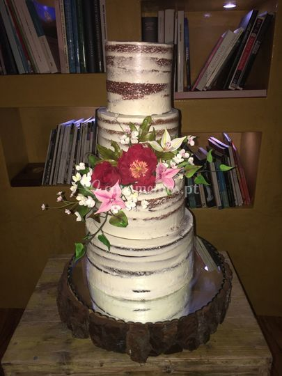Naked cake romantico