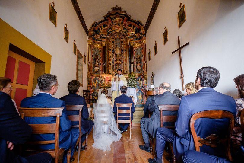 Celebração religiosa na capela