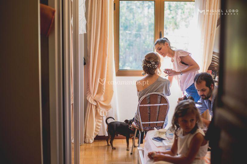 A preparar a noiva