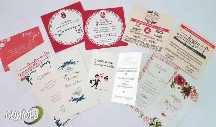 Alguns dos convites realizados