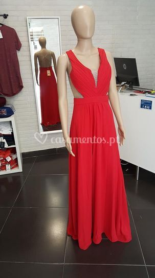 Vestido deusa - vermelho
