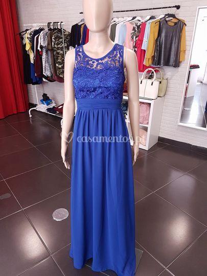 Vestido débora - azulão