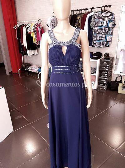 Vestido vénus - azul marinho