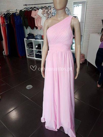 Vestido elsie - rosa bombom