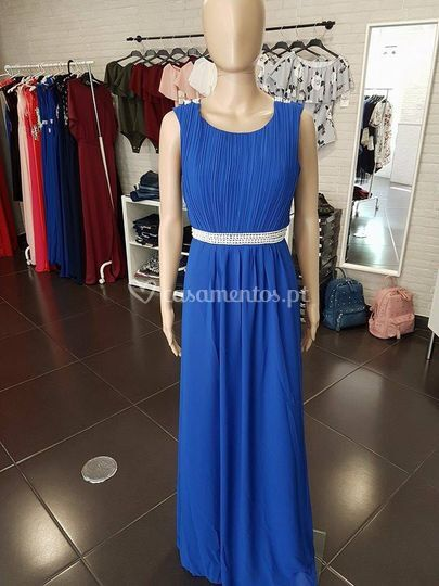 Vestido afrodite - azulão