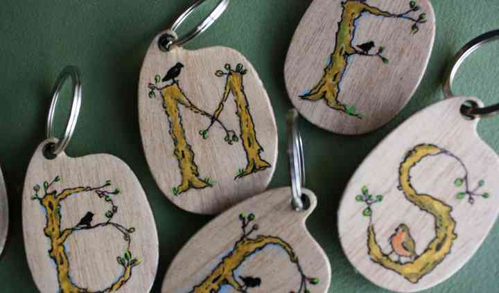 Porta-chaves com monograma
