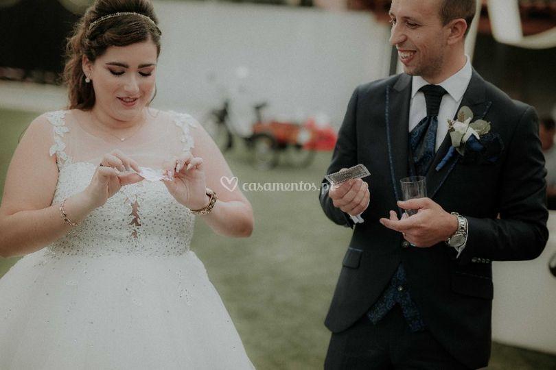 Noivos magicando