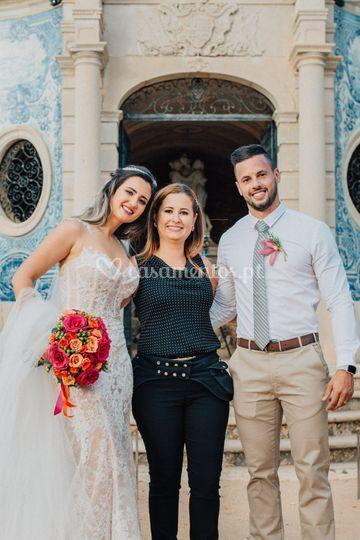 Eu e os noivos