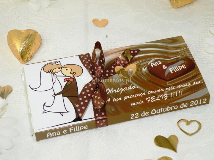 Chocolate brinde/convite
