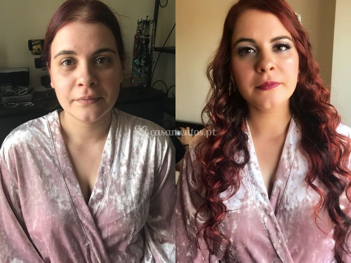 Wedding day antes&Depois