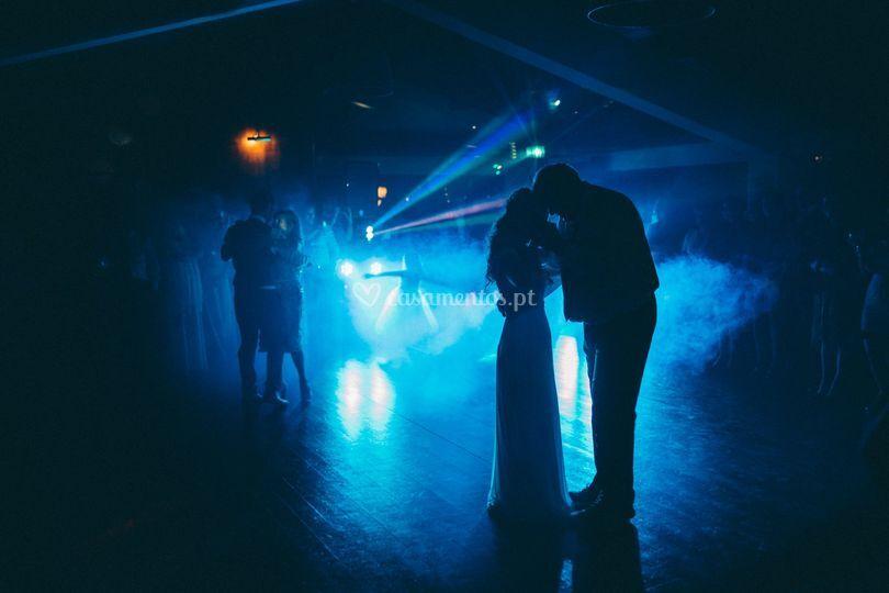 Festa noite casamento