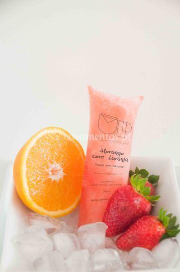 Morango com laranja