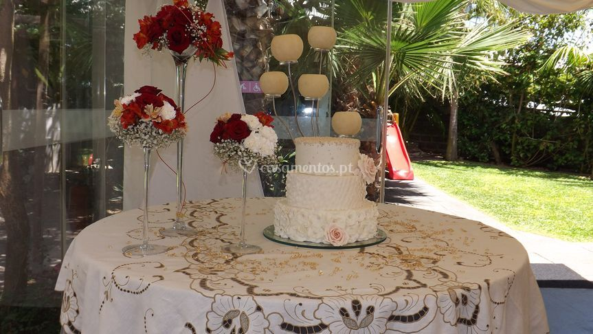Decor da mesa de bolo
