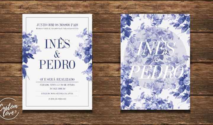 Convite  Inês e Pedro