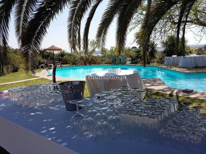 Eventos junto da piscina