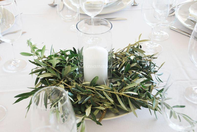 Centro de mesa - oliveira
