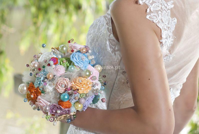 Um bouquet de uma noiva