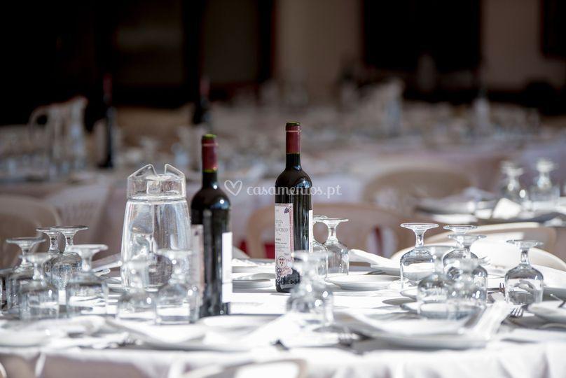 As mesas a serem preparadas!