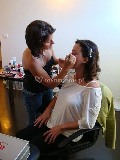Sessão de maquilhagem