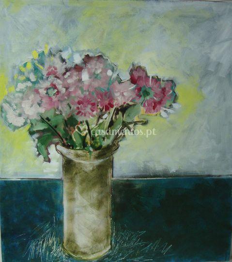 Flores - Rosário Félix Óleo