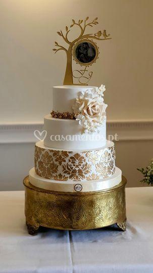 Topo de bolo acrílico com foto