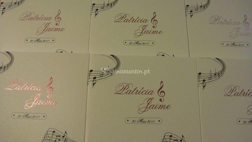 Convites em harmonia c/ tema