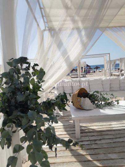 Casar na praia Ao Pormenor