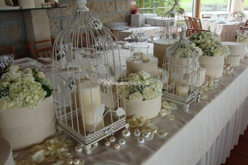 Mesa de noivos vintage