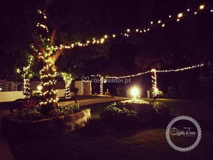 Jardim a noite