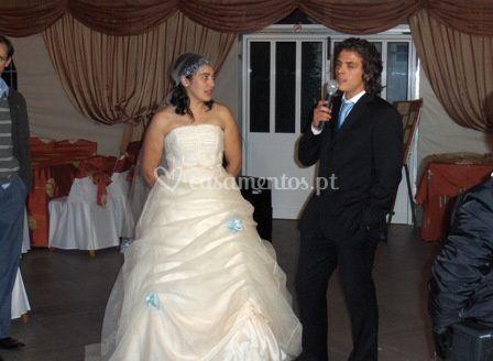 Karaoke para os noivos
