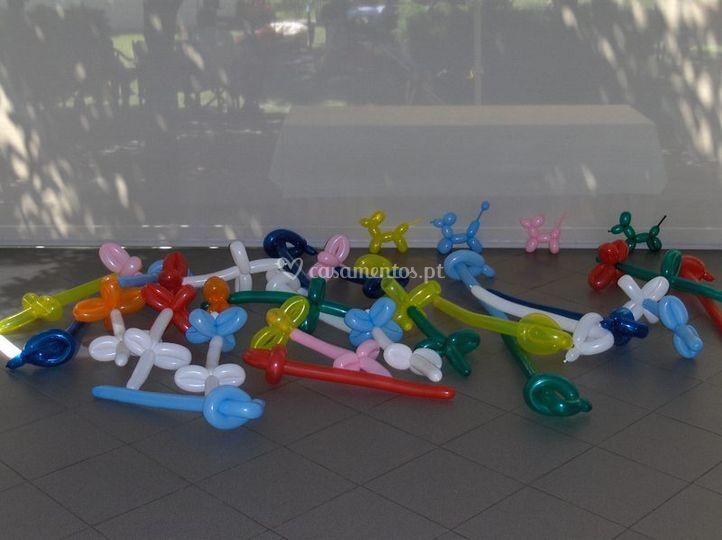 Moldagem de balões para os mais novos