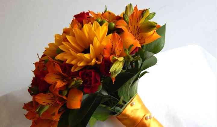 Bouquet com girassóis