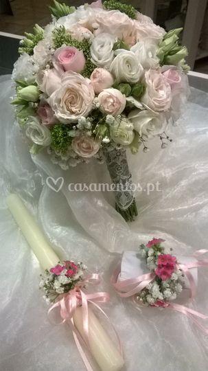 Bouquet rosas diversas.