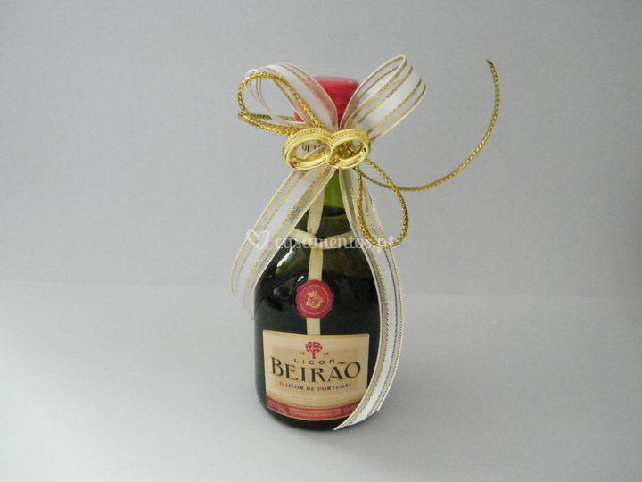Garrafa licor beirão decorada